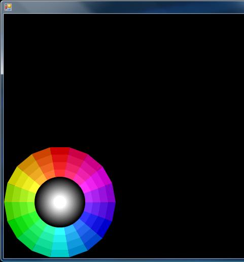 Antialiased colour wheel display in Windows Vista